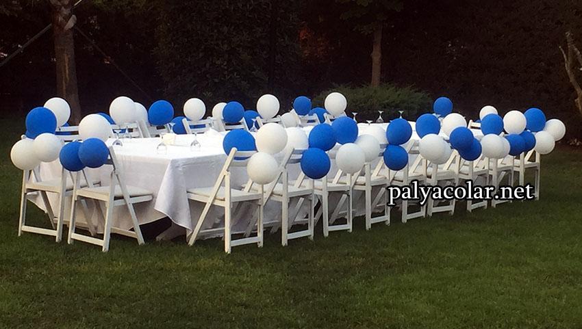 sünnet düğünleri papatya balon süsleme